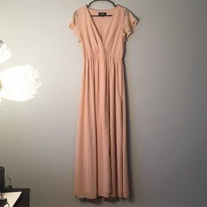 Lulus Lost in the Moment Blush Maxi dress